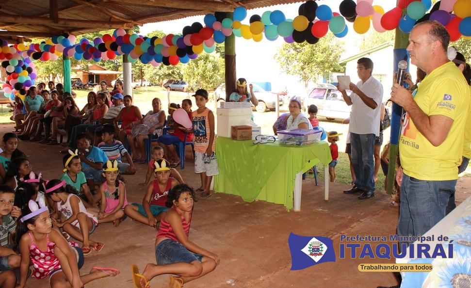 Secretário de saúde anuncia atrações do dia de saúde e lazer às crianças do assentamento indaiá