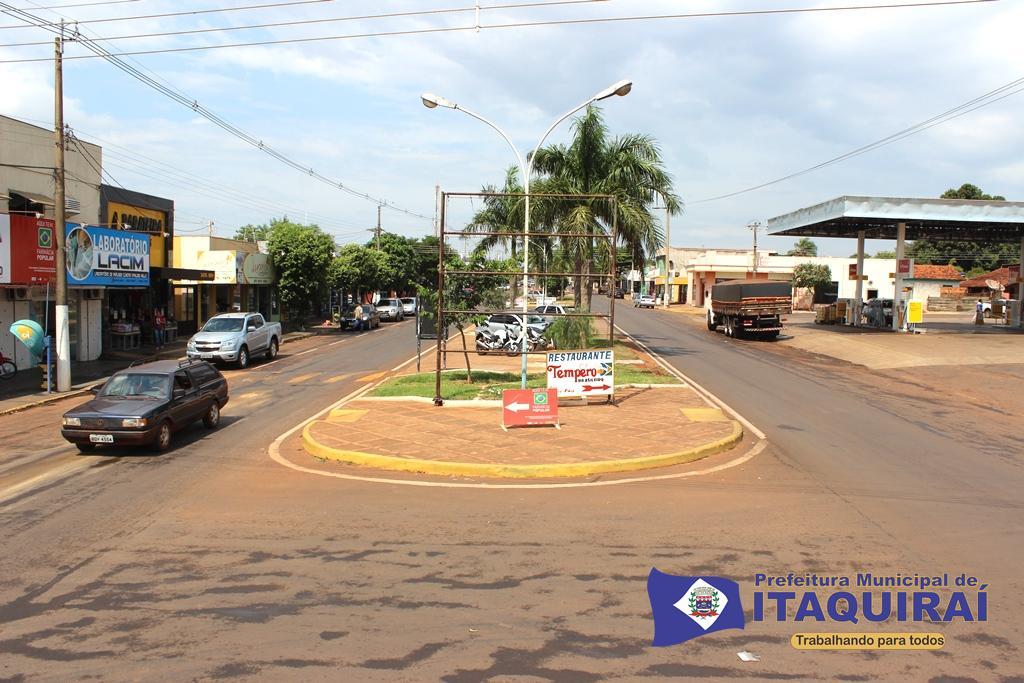 Vista parcial da cidade de itaquiraí que tem o iptu com o maior desconto de toda a região