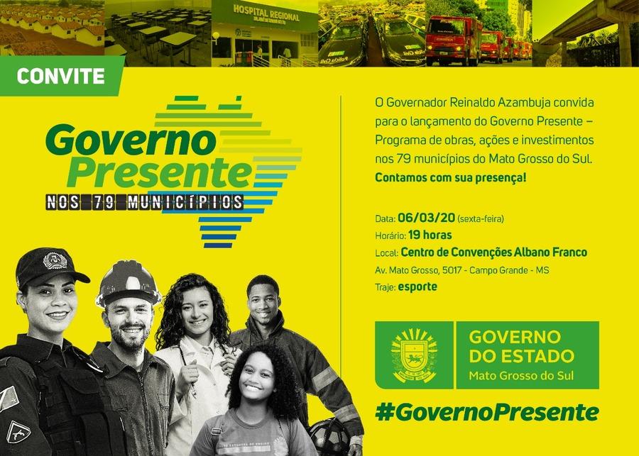 Center convite governo presente